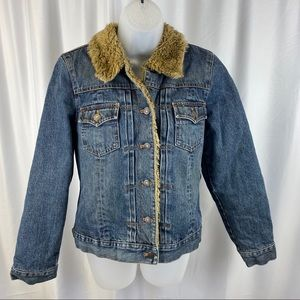 Gap lined jean jacket